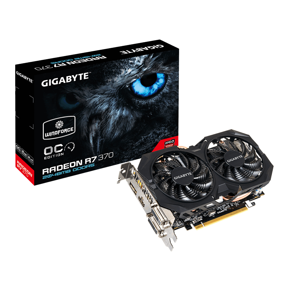 VGA GIGABYTE R7 370 GAMING G1 OC WINDFORCE 2GB G5