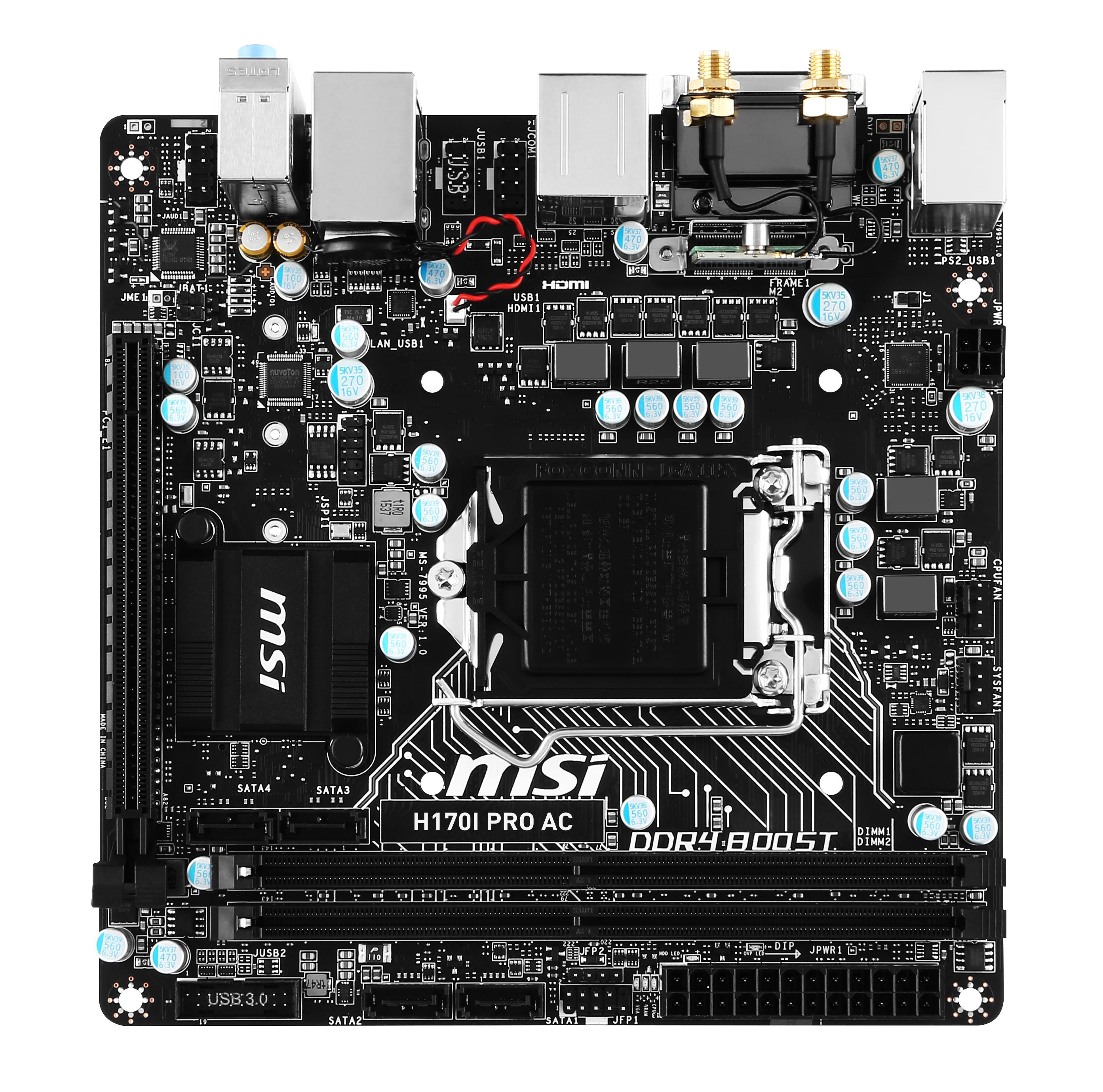 PB MSI 1151 H170I PRO AC MINI ITX