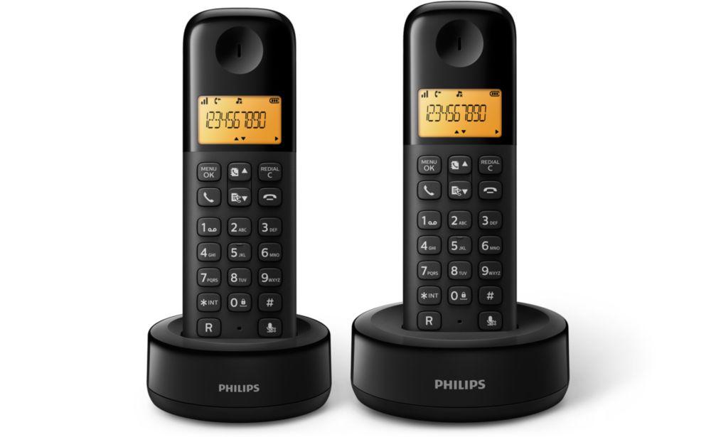 TELEF. INALAMBRICO DECT DIGITAL PHILIPS D1302B/23