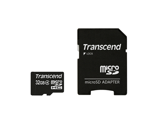 MEM MICRO SD 32GB TRANSCEND CL4 + ADAP SD