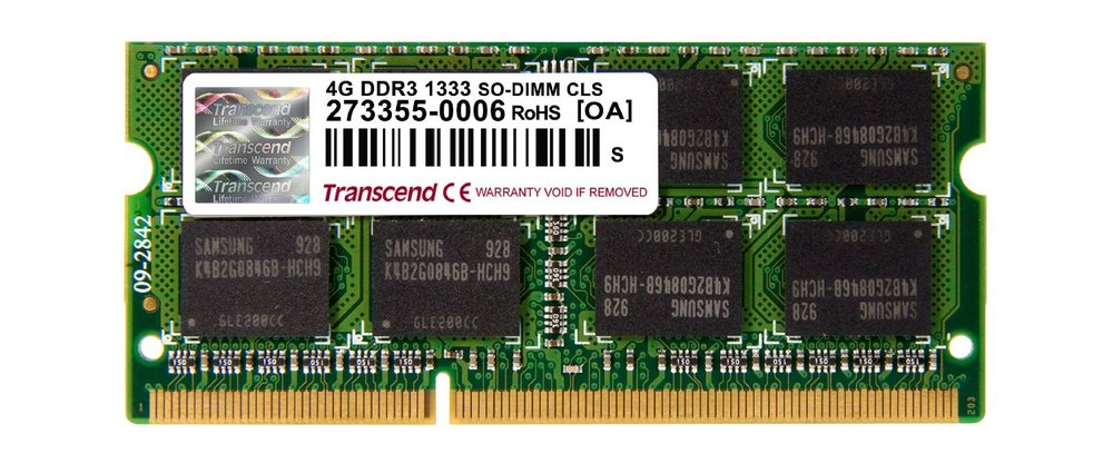MOD S/O DDR3 PC1333 4GB TRANSCEND PARA APPLE MAC