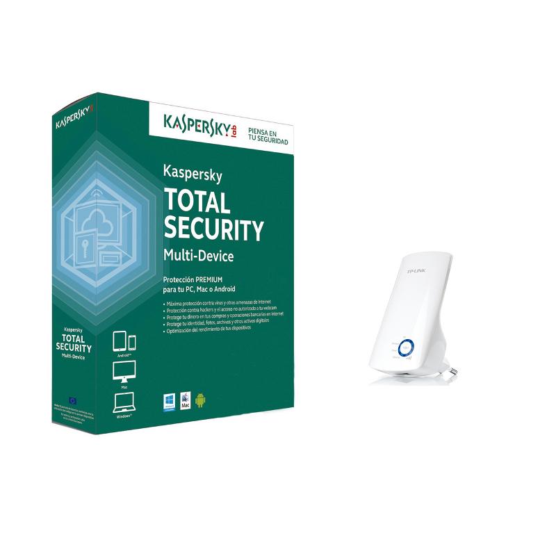 SOFTW KASPERSKY TOTAL SECURITY 3U + TPLINK WA850RE
