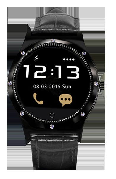 SMARTWATCH SWISS SMART MONTREUX PULSO NEGRO