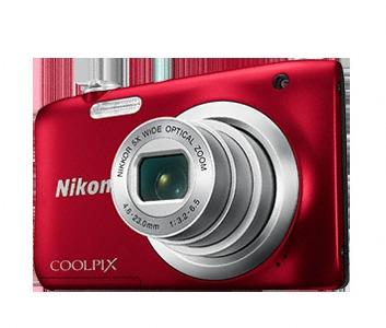 Camara Nikon Coolpix A100 Roja+Palo Selfie