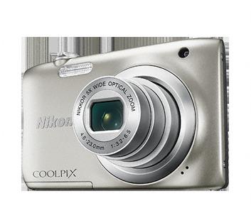 Camara Nikon Coolpix A100 Plata+Palo Selfie