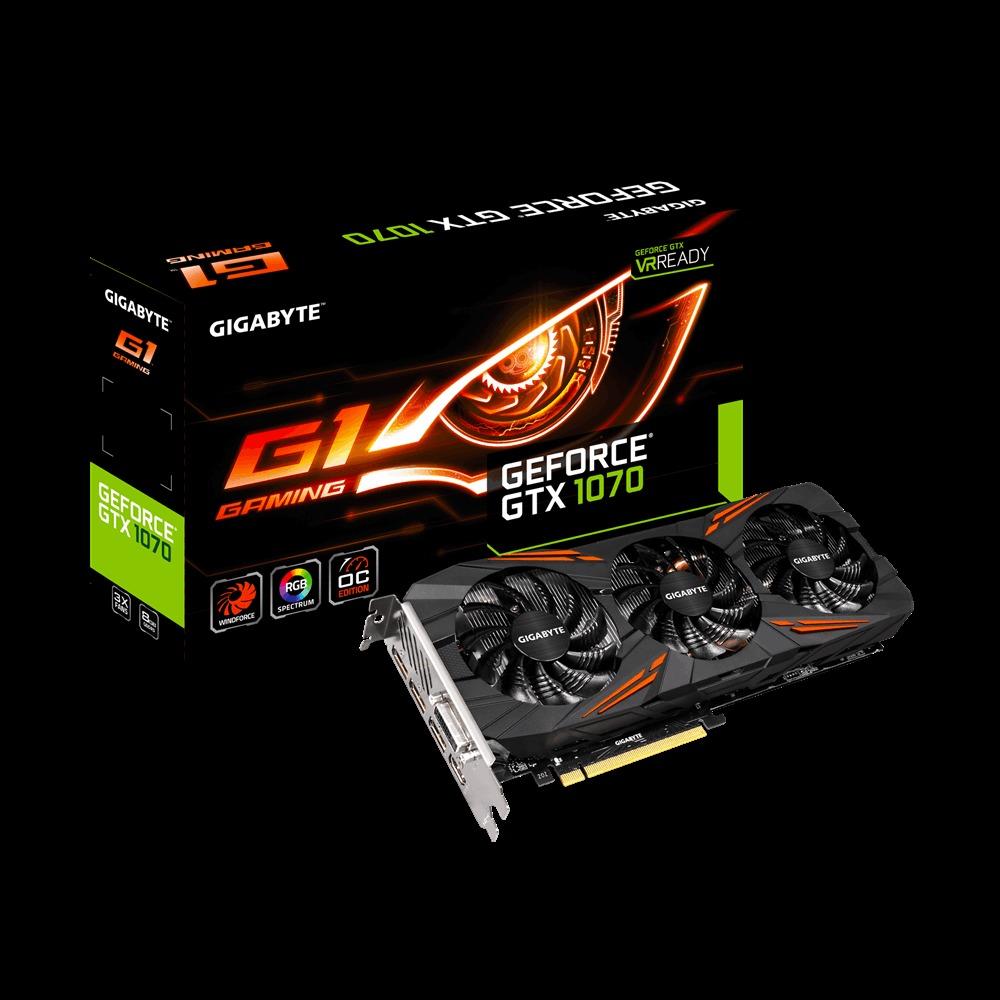 VGA GIGABYTE GTX 1070 GAMING G1 8GB GDDR5X