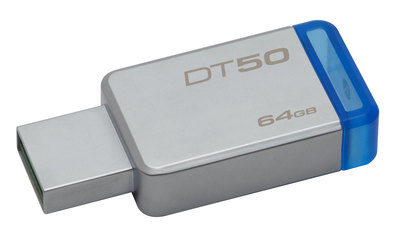 Kingston DataTraveler 50 - unidad flash USB - 64 GB
