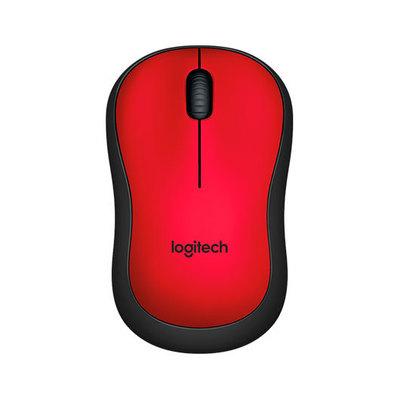 Logitech M220 Silent - ratón - 2.4 GHz - rojo