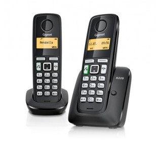 Gigaset AS405 Duo - teléfono inalámbrico con ID de llamadas + auricular adicional