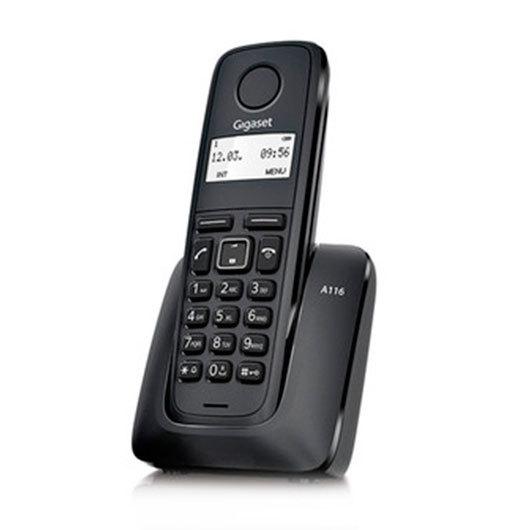TELEFONO INALAMBRICO DECT DIGITAL GIGASET A116 NEG