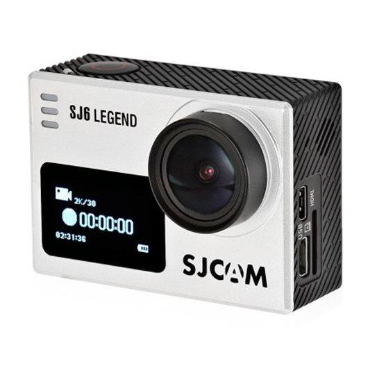 CAMARA VIDEO SJCAM SJ6 LEGEND SILVER - 4K-24FPS / LCD 2  / GYROESTABILIZADOR / ÁNGULO 166º