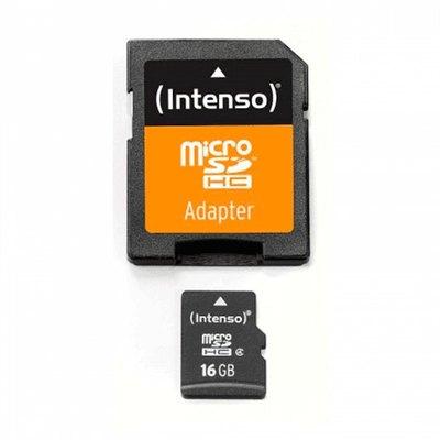Intenso - tarjeta de memoria flash - 16 GB - microSDHC