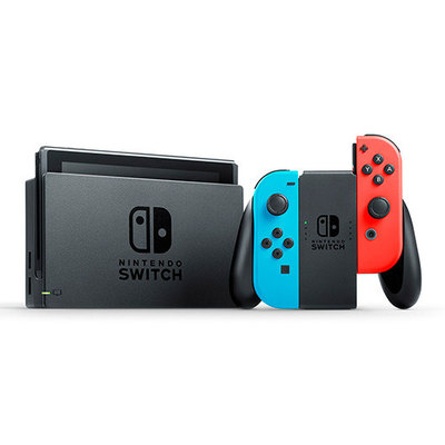 Nintendo Switch with Neon Blue and Neon Red Joy-Con - Consola de juegos - negro, rojo neón, azul neón