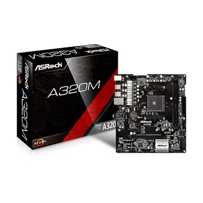 ASRock A320M - placa base - micro ATX - Socket AM4 - AMD A320