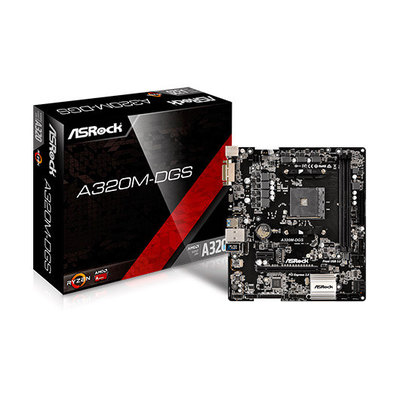 ASRock A320M-DGS - placa base - micro ATX - Socket AM4 - AMD A320