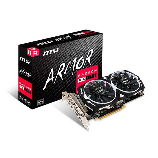 TARJETA GRÁFICA MSI RX570 ARMOR OC 4GB GDDR5
