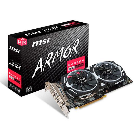 TARJETA GRÁFICA MSI RX580 ARMOR 8GB OC GDDR5