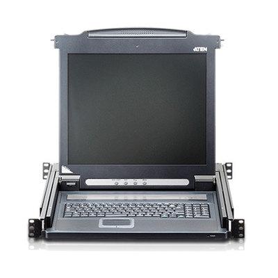 """1-Port Conmutador KVM Consola LCD de 17"""" Negro"""