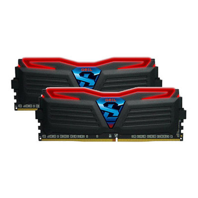 GeIL SUPER LUCE - RED - DDR4 - 8 GB: 2 x 4 GB - DIMM de 288 espigas - sin búfer