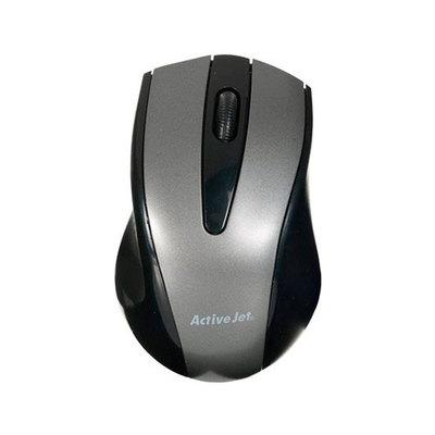 ActiveJet AMY-010 - ratón - negro, plata