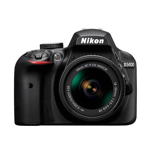 Camara Nikon Reflex D3400 Dx18/55 Novr+55/200 Vrii