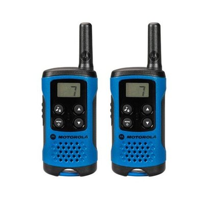 WALKIE-TALKIE MOTOROLA TLKR-T41 AZUL-NEGRO PACKS 2
