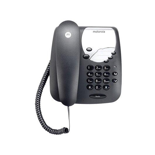 TELEFONO CON CABLE MOTOROLA CT1  NEGRO