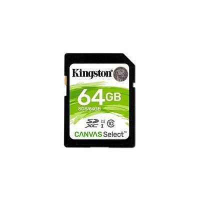 Kingston Canvas Select - tarjeta de memoria flash - 64 GB - SDXC UHS-I