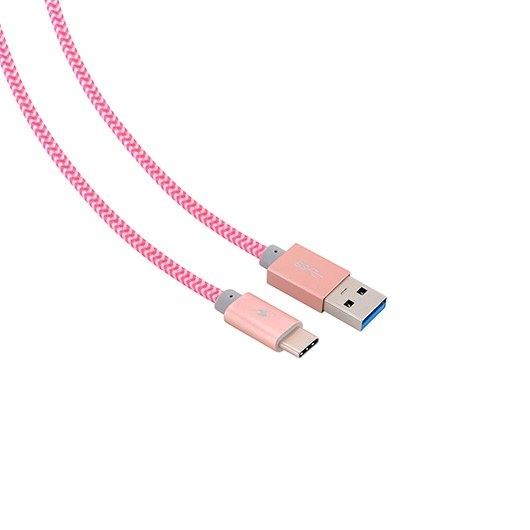 CABLE USB (A) A USB TIPO C BLUESTORK TRENDY ROSA