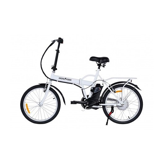 "Bicicleta electrica 20"" Skateflash color blanco"