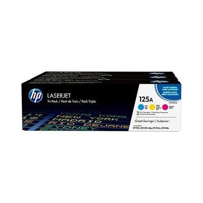 HP 125A Tri-pack - paquete de 3 - amarillo, cián, magenta - original - LaserJet - cartucho de tóner (CE259AM)