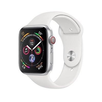 Apple Watch Series 4 (GPS + Cellular) - aluminio plateado - reloj inteligente con pulsera deportiva - blanco - 16 GB - sin especificar