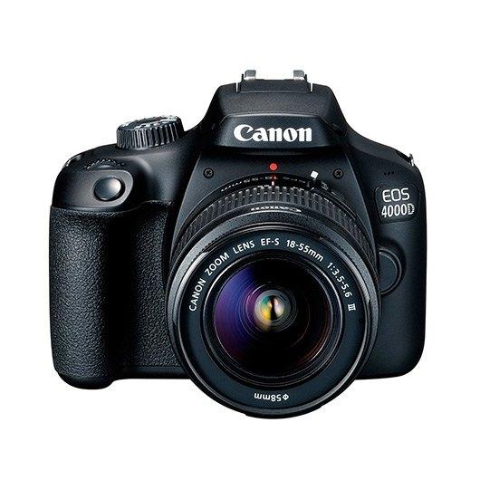 CAMARA CANON REFLEX EOS 4000D + OBJETIVO EF-S 18-5