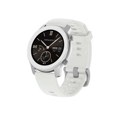 Amazfit GTR - blanco luz de luna - reloj inteligente con correa - blanco