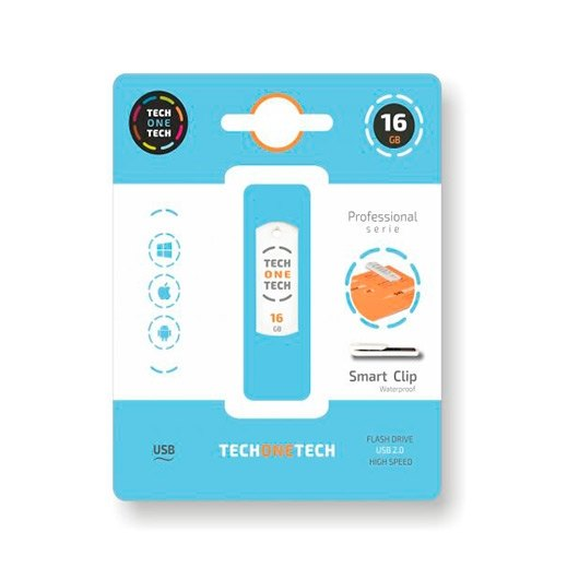 PENDRIVE 16GB TECH ONE SMART CLIP