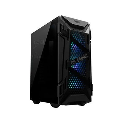 """CAJA ASUS GT301,ATX MID TOWER,RGB VIDRIO TEMPLADO,2X2.5""""/3.5""""+4X2.5"""",FAN 3X120MM+1X120MM,2XUSB3.2+AUDIO+MICRO (NEGRA)"""