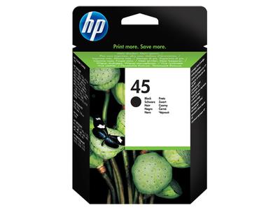 HP 45 Large - Grande - negro - original - cartucho de tinta